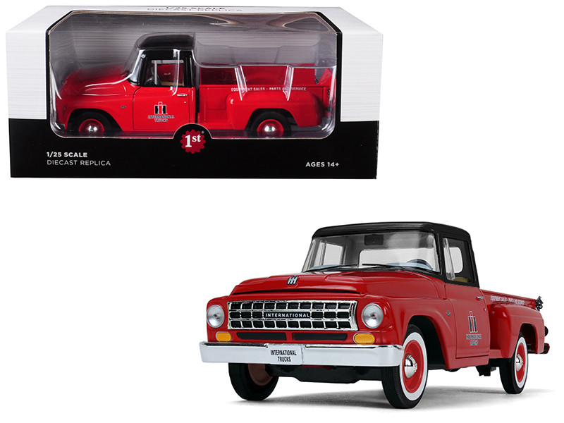 International C1100 International Trucks Pickup Truck Red Black Top 1/25 Diecast Model Car First Gear 40-0427