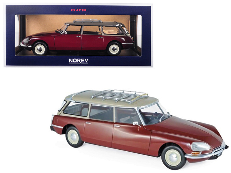 1970 Citroen Break 21 Roof Rack Burgundy 1/18 Diecast Model Car Norev 181592