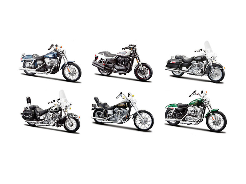 Harley Davidson Motorcycle 6pc Set Series 32 1/18 Diecast Models Maisto 31360-32