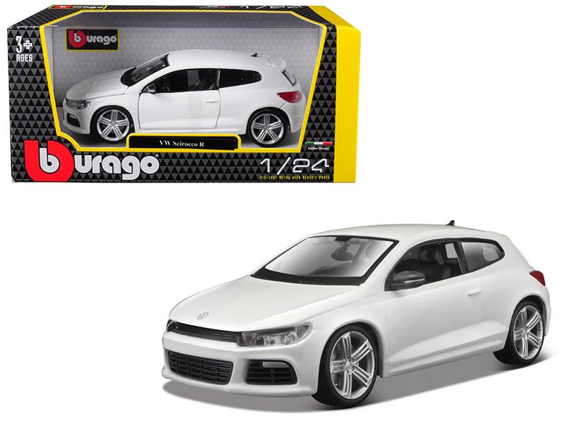 Volkswagen Scirocco R White 1/24 Diecast Model Car by Bburago