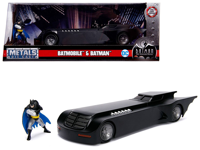 Batmobile Batman Diecast Figure Animated Series DC Comics Series 1/24 Diecast Model Car Jada 30916