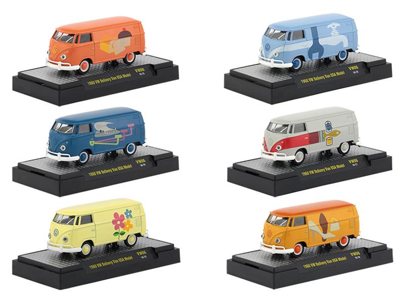 1c9e576215 Auto Thentics Volkswagen 6 Cars Set Release 6 DISPLAY CASES 1 64 Diecast Model  Cars