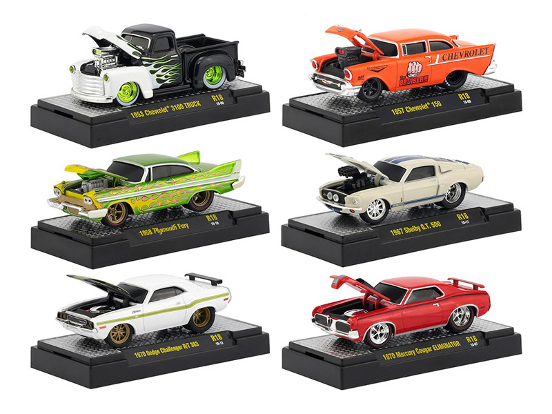 Ground Pounders 6 Cars Set Release 18 DISPLAY CASES 1/64 Diecast Model Cars M2 Machines 82161-18