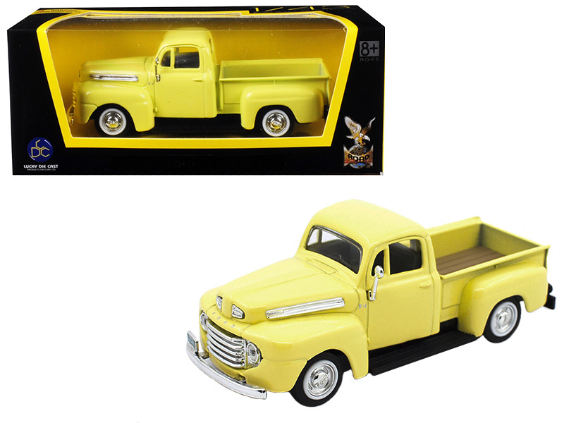 1948 Ford F-1 Pickup Truck Yellow 1/43 Diecast Model Car Road Signature 94212