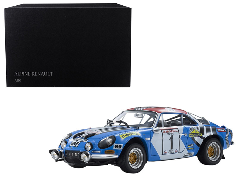 Renault Alpine A110 #1 Jean-Pierre Nicolas Michel Vial Winners 1973 Tour de Corse Rally 1/18 Diecast Model Car Kyosho 08485 A