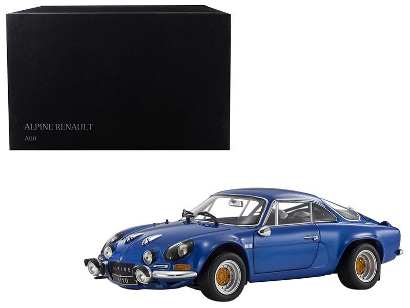 Renault Alpine A110 1600S Metallic Blue 1/18 Diecast Model Car by Kyosho