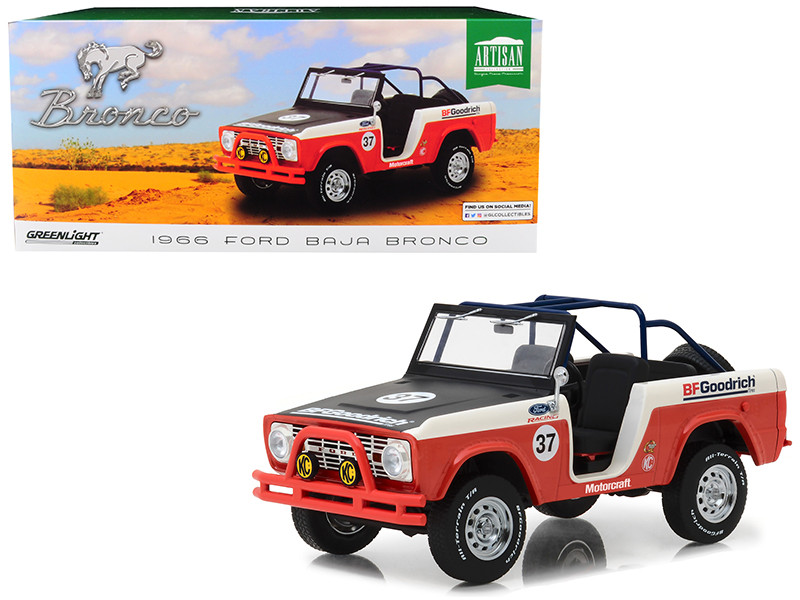 1966 Ford Baja Bronco #37 BFGoodrich 1/18 Diecast Model Car Greenlight 19037
