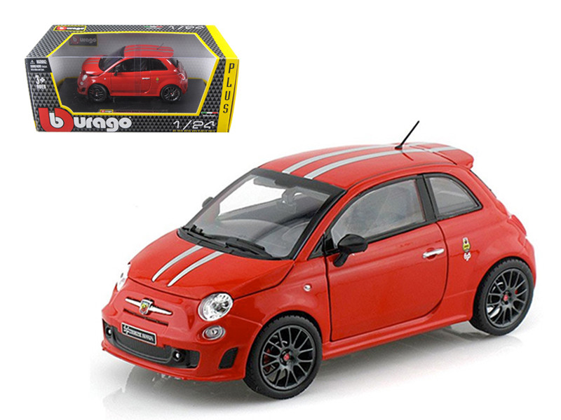 Fiat Abarth 695 Ferrari Tribute Red 1/24 Diecast Car Model Bburago 21070