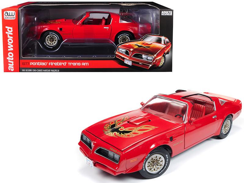 1977 Pontiac Firebird Trans Am Buccaneer Red Limited Edition 1002 pieces Worldwide 1/18 Diecast Model Car Autoworld AMM1160