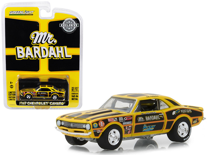 1967 Chevrolet Camaro Mr Bardahl Hobby Exclusive 1/64 Diecast Model Car Greenlight 29987