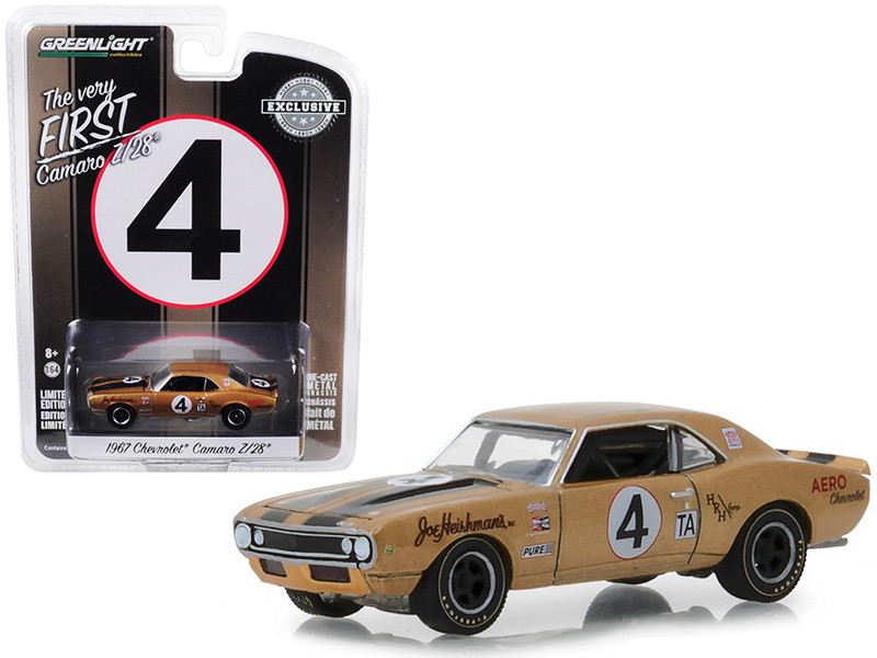 1967 Chevrolet Camaro Z/28 #4 Johnny Moore Aero Chevrolet Hobby Exclusive 1/64 Diecast Model Car Greenlight 30001