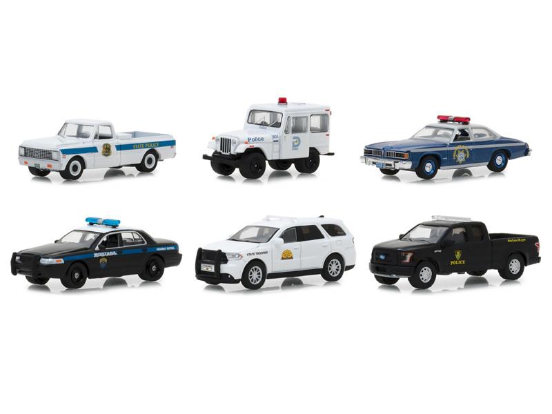 Hot Pursuit Series 29 Set 6 Cars 1/64 Diecast Models Greenlight 42860