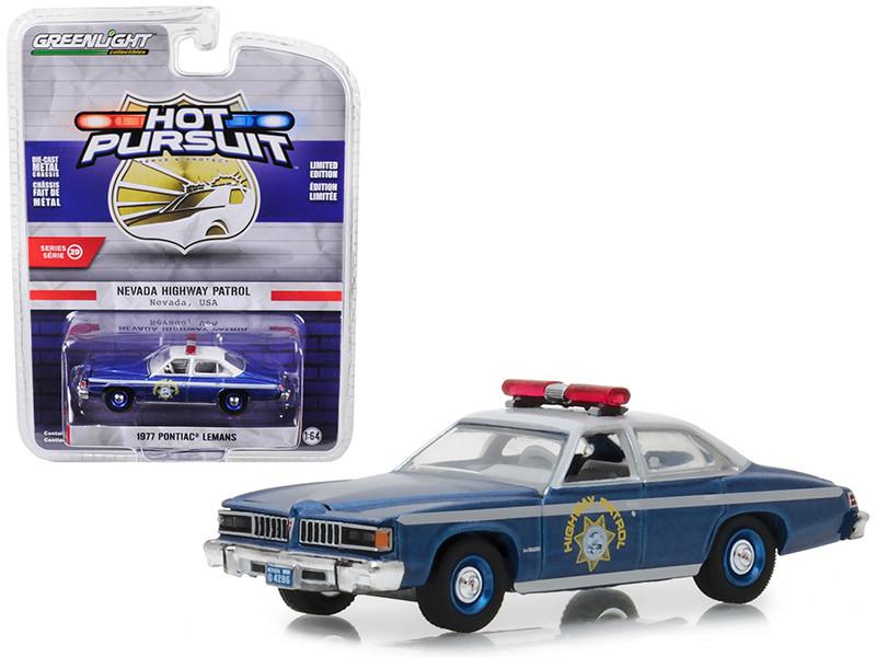 1977 Pontiac LeMans Nevada Highway Patrol Hot Pursuit Series 29 1/64 Diecast Model Car Greenlight 42860 C