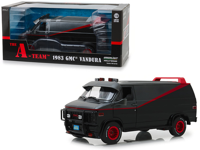 1983 GMC Vandura Black The A-Team 1983 1987 TV Series 1/18 Diecast Model Car Greenlight 13521