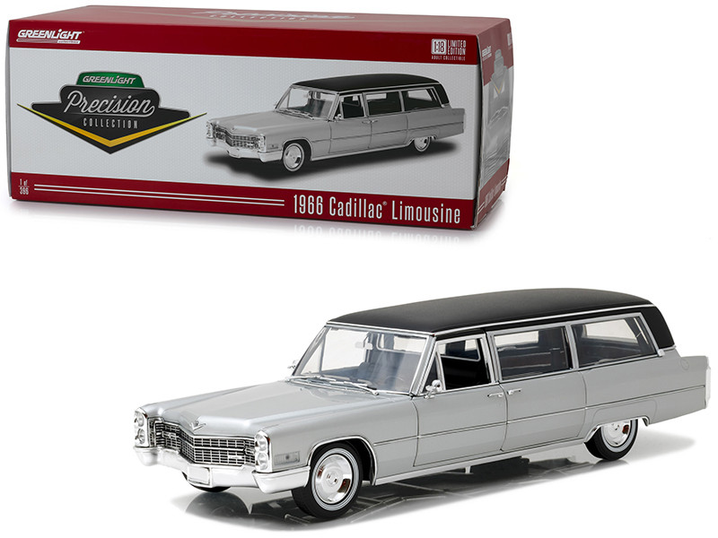 1966 Cadillac S&S Limousine Silver with Black Top \Precision Collection\