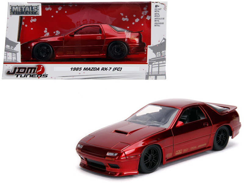 1985 Mazda RX-7 FC Red Black Wheels JDM Tuners 1/24 Diecast Model Car Jada 30941