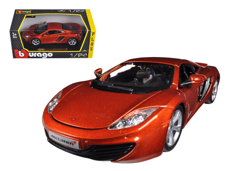 Mclaren MP4-12C Metallic Orange 1/24 Diecast Car Model Bburago 21074