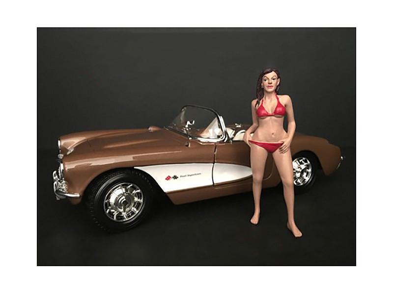 October Bikini Calendar Girl Figurine 1/18 Scale Models American Diorama 38174