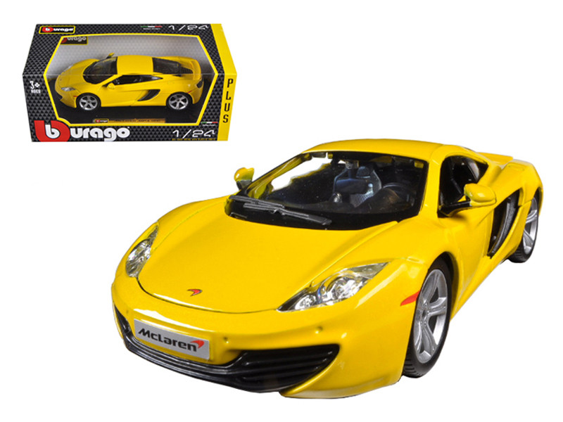 Mclaren MP4-12C Yellow 1/24 Diecast Car Model Bburago 21074