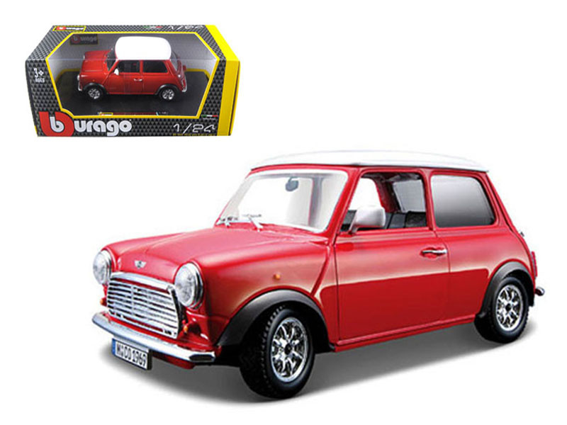 1969 Mini Cooper Red 1/24 Diecast Model Car Bburago 22011