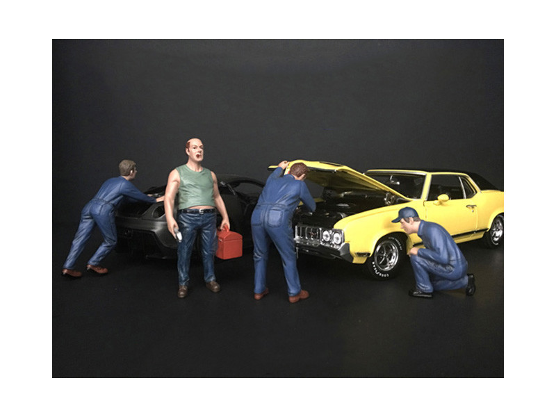Mechanic Classic 4 Piece Figurine Set 1/24 Scale Models American Diorama 38277 38278 38279 38280