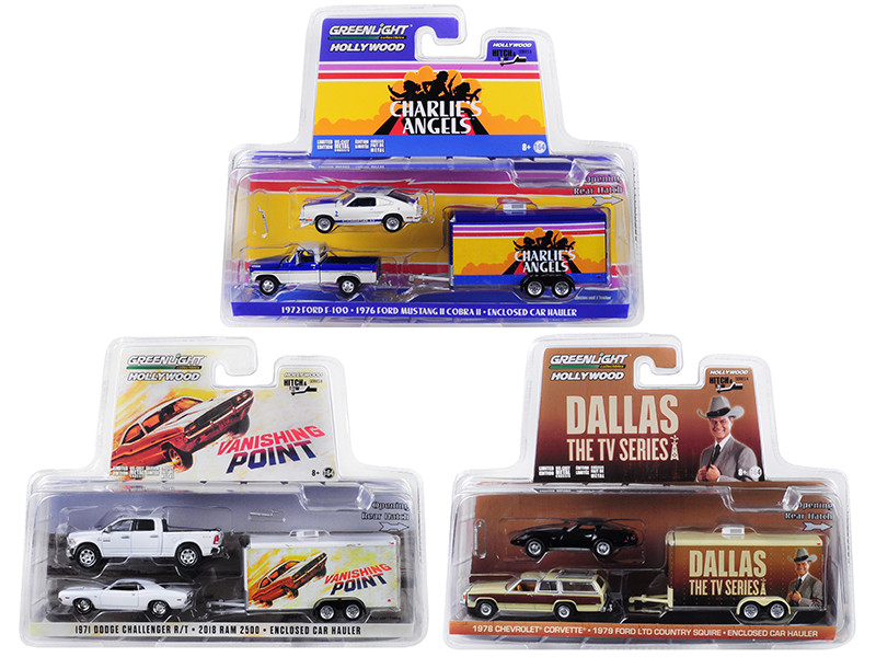 Hollywood Hitch & Tow Series 6 Set of 3 Cars 1/64 Diecast Models by  Greenlight