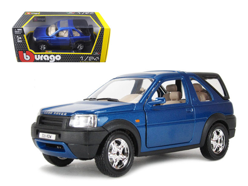 Land Rover Freelander Blue 1/24 Diecast Model Car Bburago 22012