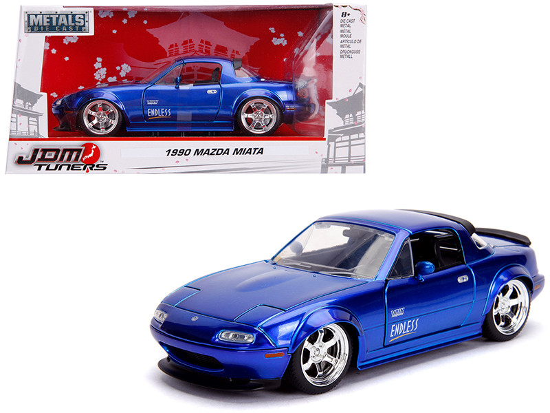 1990 Mazda Miata Endless Candy Blue JDM Tuners 1/24 Diecast Model Car Jada 30942