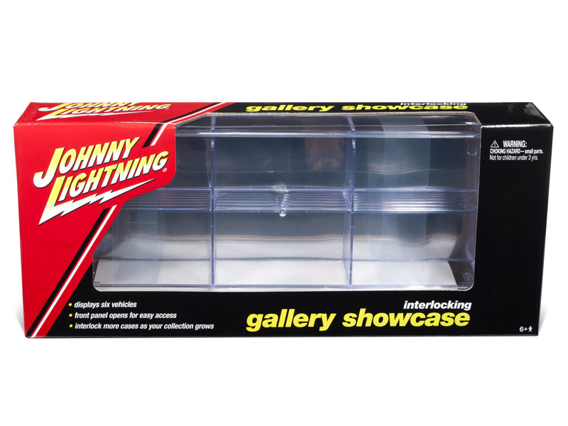 6 Car Interlocking Acrylic Display Show Case 1/64 Scale Model Cars Johnny Lightning JLDC001