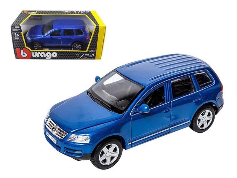 Volkswagen Touareg Blue 1/24 Diecast Model Car by Bburago