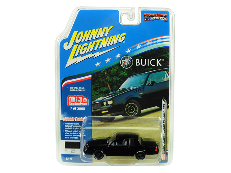 1987 Buick Grand National GNX Black Limited Edition 3600 pieces Worldwide 1/64 Diecast Model Car Johnny Lightning JLCP7178