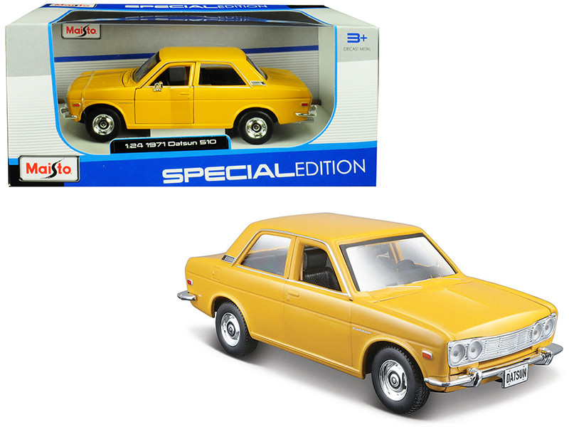 1971 Datsun 510 Yellow Special Edition 1/24 Diecast Model Car Maisto 31518