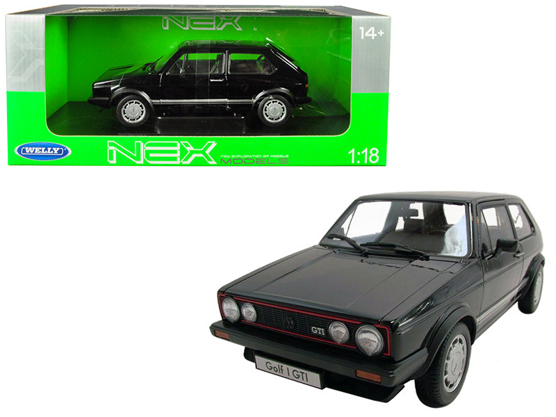 Volkswagen Golf 1 GTI Black 1/18 Diecast Model Car by Welly