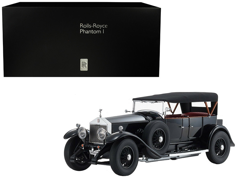 Rolls Royce Phantom I Black Red Interior 1/18 Diecast Model Car Kyosho 08931 BK
