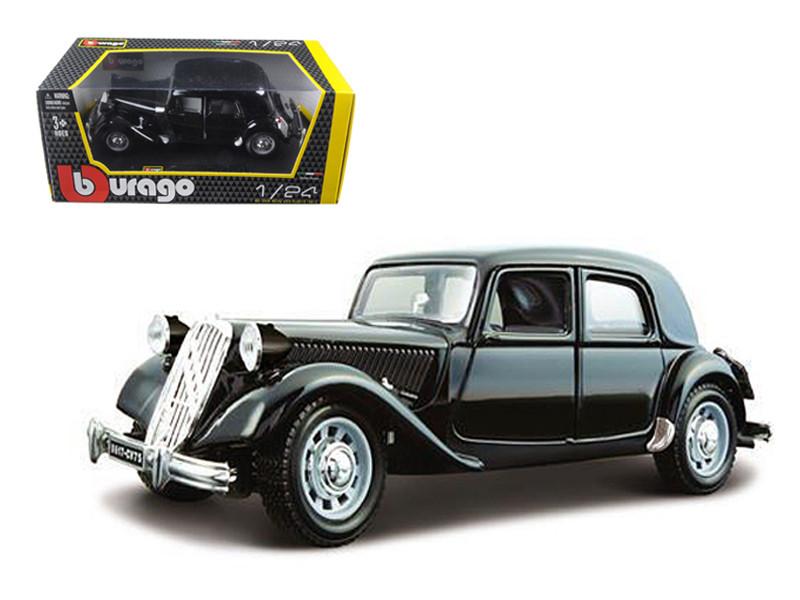 1938 Citroen 15 CV TA Black 1/24 Diecast Car Model Bburago 22017