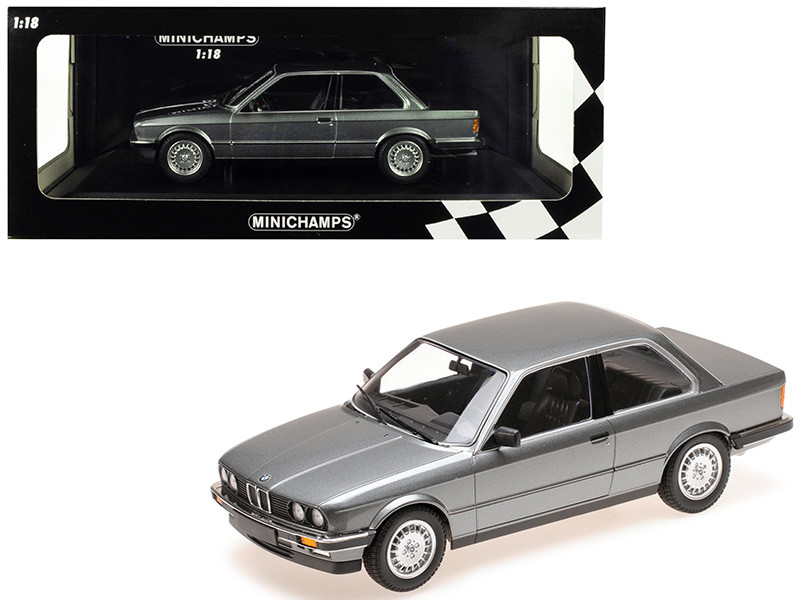 1982 BMW 323i Metallic Gray Limited Edition 400 pieces Worldwide 1/18 Diecast Model Car Minichamps 155026006