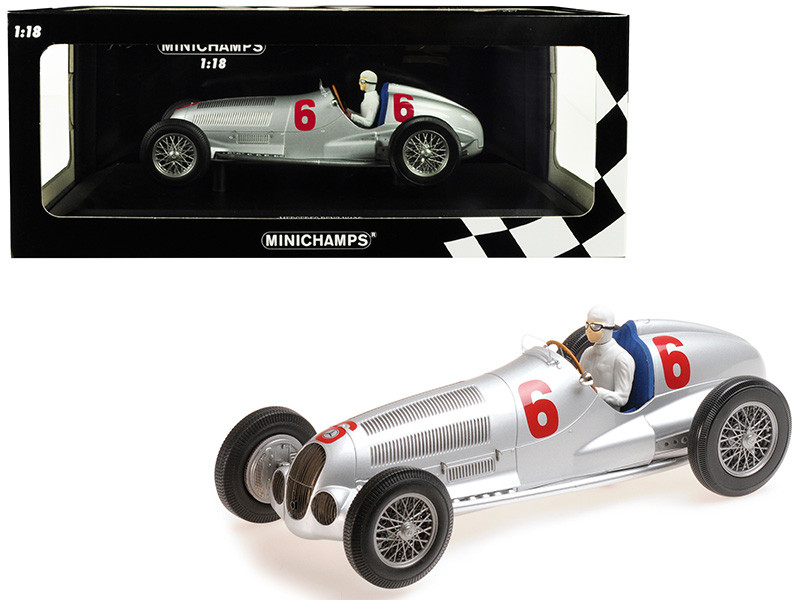 Mercedes Benz W125 Daimler-Benz AG #6 Rudolf Caracciola 2nd Place Eifelrennen Nurburgring 1937 Limited Edition 402 pieces Worldwide 1/18 Diecast Model Car Minichamps 155373106