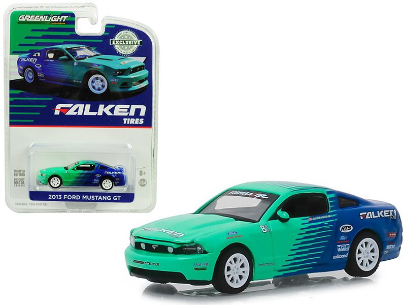 2013 Ford Mustang GT Falken Tires Hobby Exclusive 1/64 Diecast Model Car Greenlight 29972