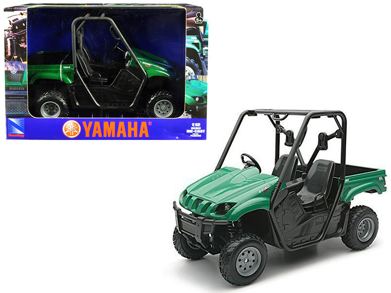 2008 Yamaha Rhino 700 F1 4x4 Off Road ATV Green 1/12 Diecast Model Car New Ray 43253