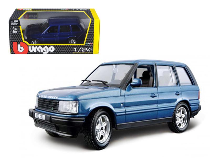 Land Rover Range Rover Blue 1/24 Diecast Car Model Bburago 22020