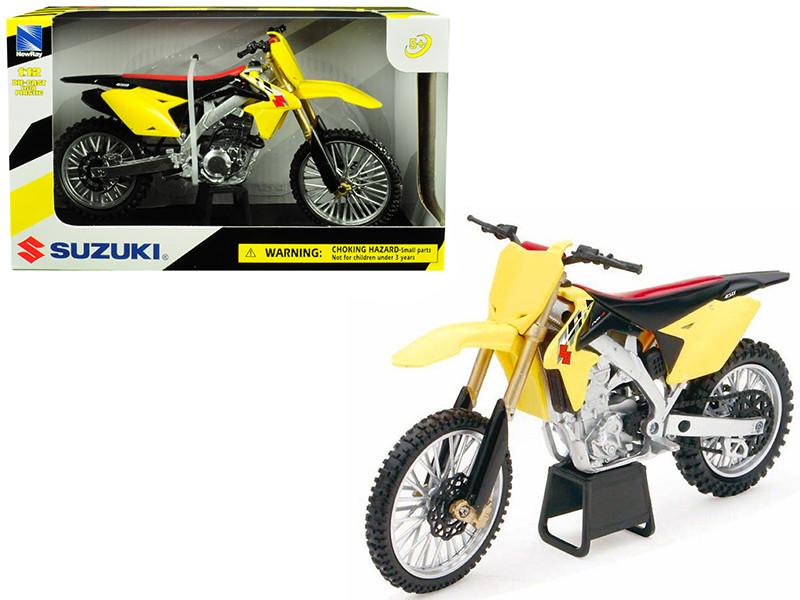 Suzuki RM-Z450 Yellow 1/12 Motorcycle Model New Ray 57643