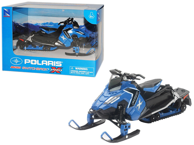 Polaris 800 Switchback Pro-X Snowmobile Blue 1/16 Diecast Model New Ray 57783 B