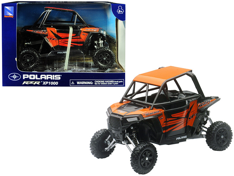 Polaris RZR XP1000 ATV Orange 1/18 Model New Ray 57823 S