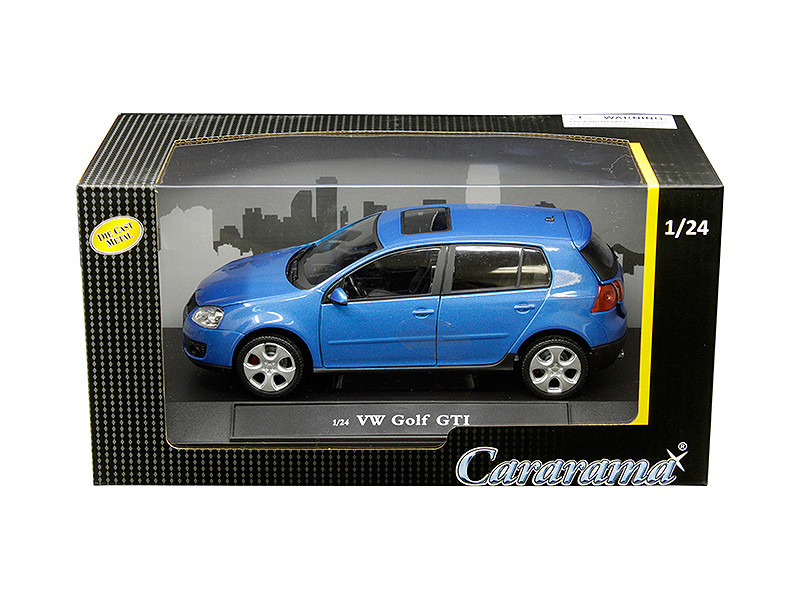 Volkswagen Golf GTI Sunroof Metallic Blue 1/24 Diecast Model Car Cararama 12519