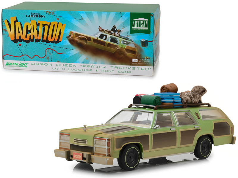 1979 Wagon Queen Family Truckster Luggage Aunt Edna Honky Lips Version National Lampoon's Vacation 1983 Movie 1/18 Diecast Model Car Greenlight 19048