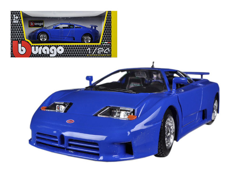 Bugatti EB 110 Blue 1/24 Diecast Car Model Bburago 22025