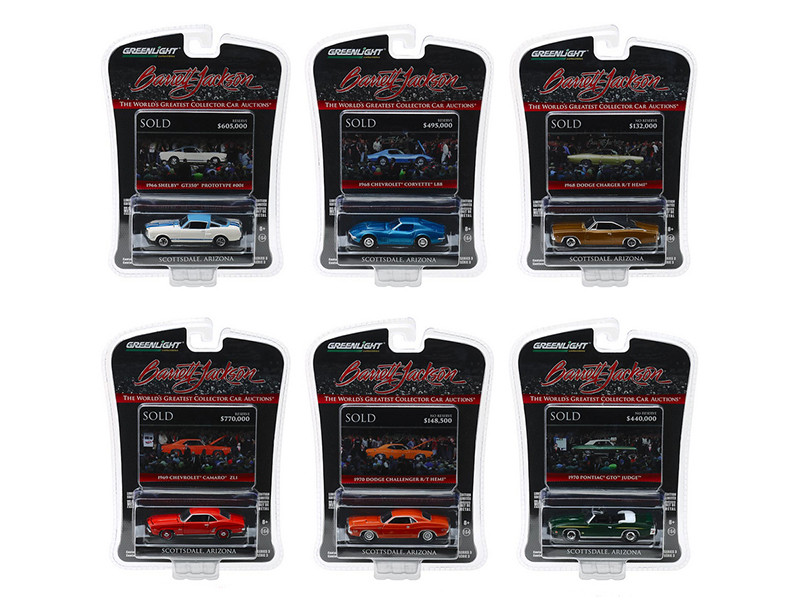 Barrett Jackson Scottsdale Edition Series 3 Set 6 Cars 1/64 Diecast Model Cars Greenlight 37160