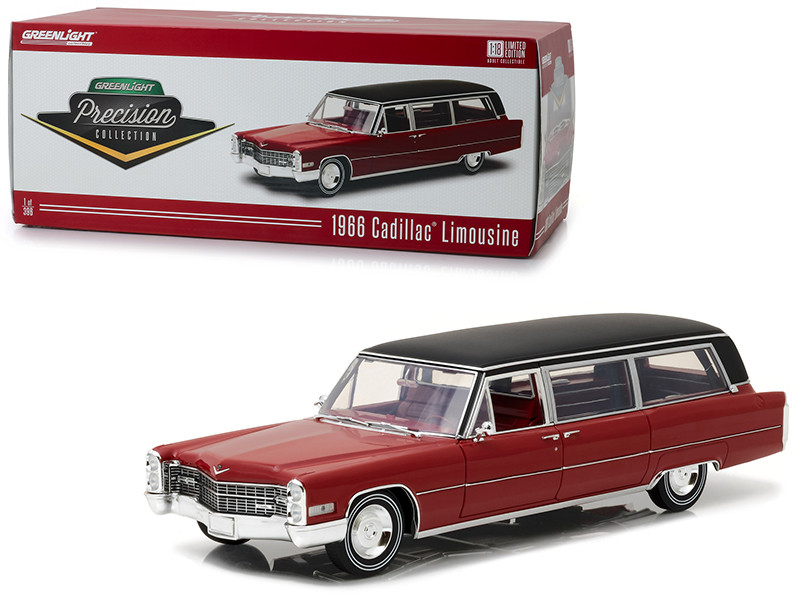 1966 Cadillac S&S Limousine Red with Black Vinyl Top \Precision Collection\