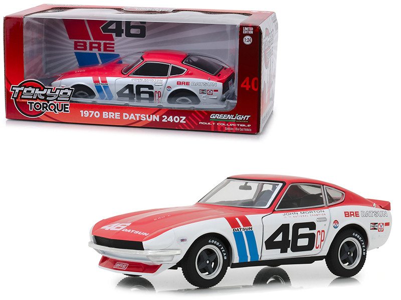 1970 Datsun 240Z #46 John Morton BRE Brock Racing Enterprises Tokyo Torque Series 1/24 Diecast Model Car Greenlight 18301