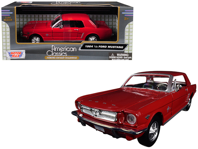 1964 1/2 Ford Mustang Red 1/24 Diecast Model Car Motormax 73273